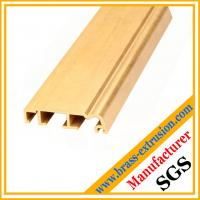 China golden color copper alloy extrusion profile sections for windows and doors on sale