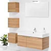 Quality Wall Mounted customized modern red birch solid wood bathroom vanity base cabinets wholesale
