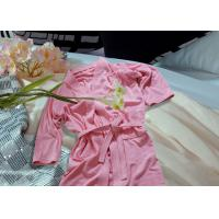 Quality Embroidered Pattern Luxury Bath Robes For Hotel / Home Jacquard Cotton Fabric wholesale