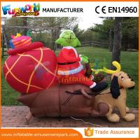 Quality Giant Waterproof Custom Inflatables Christmas Replica Inflatable Grinch With Repair Kits wholesale