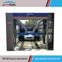Quality Automatic tunnel car washing equipment with belt conveyor / Automated car washer with nine brushes wholesale