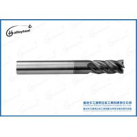 China Durable Cemented Carbide Diamond Coated End Mills For High Speed Cutting on sale