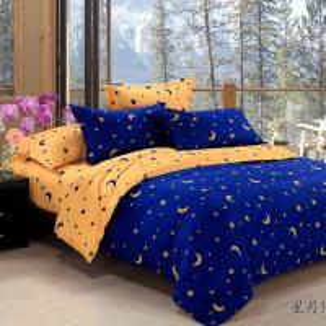 Quality Wholesale fashion pure fresh quietly elegant comfortable  beautiful moon stars bedding set wholesale