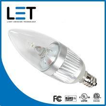 Quality 120V UL 2w led candelabra bulb e27 dimmable candelabra base led light bulbs wholesale