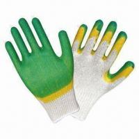 Quality Cotton Yarn Latex-dipped Gloves for Gardening wholesale