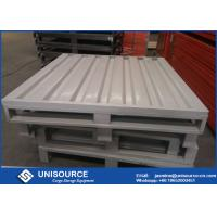 Quality Waterproof Heavy Duty Steel Pallets , Durable Stackable Steel Pallets 1000 - 3000 Kg Load wholesale