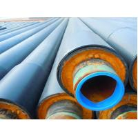 Quality A53 - A369 Insulated Steel Pipe , Thermal Insulation Polyurethane Composite Foam Steel Pipe wholesale