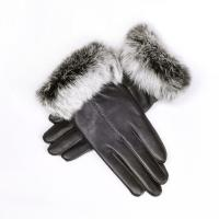 China Genuine Leather Gloves - Sheep Skin Fleece Lining Rabbit Fur Gloves on sale