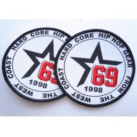 Quality Rubber 3D Custom Clothing Patches Embosssed With Backing wholesale
