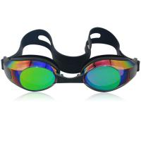 China Mirror coated adult silicone swim goggles with CP lens,Anti-Fog,UV protetcion on sale