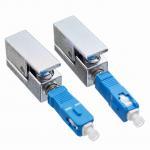 Quality SC Bare Optical Fiber Adapter UPC Single Mode Type Metal Material Square Adaptor wholesale