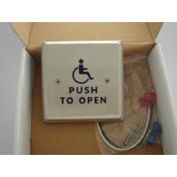 "Quality 4.5"" Round Push To Exit Switch / Handicap Accessible Door Openers With Disabled Logo wholesale"