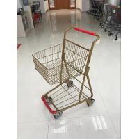 Quality 40L Folding Grocery Shopping Trolley , Singel Basket Supermarket Shopping Carts wholesale