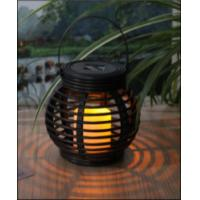 Quality Customized Size Solar Garden Lights , Solar Mini Rattan Basket Round wholesale