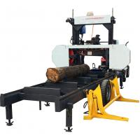 Buy cheap Woodworking Machinery Horizontal Band Portable Sawmill with Hydraulic Log Loading Arm from wholesalers