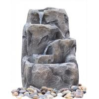 Buy cheap Modern Alpine Rock Waterfall Fountain With Fiberglass / Resin Material from wholesalers