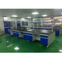 Buy cheap Chemical Wood Lab Furniture , Laboratory Island Bench With Reagent Shelf from wholesalers