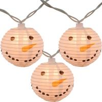 Buy cheap Led Paper Lanterns Hanging Outdoor String Lights 8 Cm Square Snowman Shaped from wholesalers