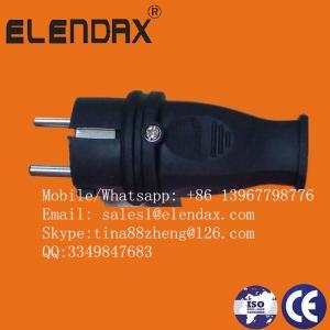 Quality Black European Rubber Power Plug Socket Russian Market ndustrial Plug Adaptor 16A German Schuko AC Power Electrical P wholesale