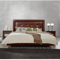 Cheap Fabric Upholster padad Headboard Queen Bed Leisure Bedroom Furniture in American for sale