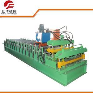 Quality 828 - 988 Glazed Tile Making Machine , Corrugated Steel Panel Roll Forming Machine wholesale