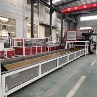 China 220kw SPC Flooring Production Line LVT Vinyl Plank Floor Production Line PLC Control on sale