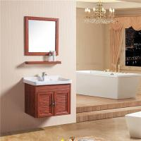 Quality Double Doors Floating Sink Vanity , Wall Mounted Sink Cabinet With Mirror And Shelf wholesale