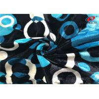 China Printed Stretch Knitted Velvet Fabric Polyester Spandex Fleece Fabric For Ladies Dress on sale