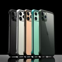 Quality Wholesale Apple iPhone 11 Pro Max Case Frameless Magnetic Metal Cover Transparent Glass Shell Original Color wholesale