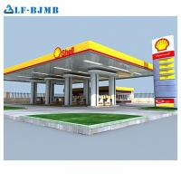 Quality High Standard Design Light Weight Steel Space Frame Service/Gas/Petrol Station Canopy wholesale