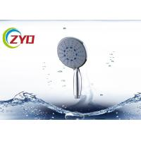Quality Shower Room Hand Shower Head Round Shape 5.5kgs / Min Water Test Pressure wholesale
