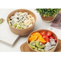 Quality Disposable kraft paper bowl takeaway fast food container strong disposable bowls wholesale