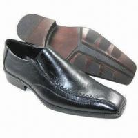 China Men's Dress Shoes, Available in Black, Suitable for Autumn and Winter Seasons on sale