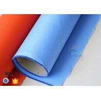 Quality 15.6oz Blue Silicone Coated Fiberglass Fabric Generator Electrical Insulation wholesale