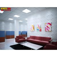 Cheap Red / White Office PVC 3D Textured Wall Panels Commercial Decoration Wall Art for sale
