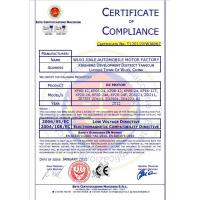 Wuxi Jinle Automobile Motor Factory Certifications