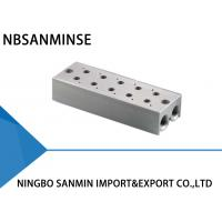 Quality ISO Certification Pneumatic Solenoid Valve Parts Manifold Base One Year Guarantee wholesale