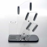 Quality Transparent acrylic store displays / acrylic kitchen knife holder wholesale