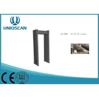 Quality Black 18 Zones Airport Equipment Walk Through Metal Detector For Security Inspection wholesale