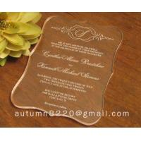 Quality wasteful wedding invitation card wholesale