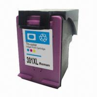 China Remanufactured Black Ink Cartridge, Used for HP 301, Available in Various Types on sale