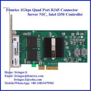 Quality 10/100/1000Mbps RJ-45 Copper Cable*4, (10/100BASE-T, 1000BASE-T), LC Fiber Server NIC wholesale