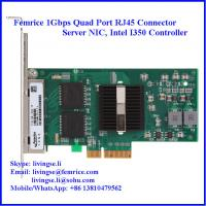 Quality 1G Quad Port RJ45 Connector Gigabit Ethernet Server Adapter, 4 Ports Copper Adapter wholesale