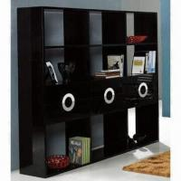 Quality Glossy bookcase, made of E1 MDF wholesale