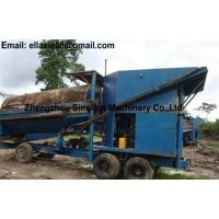 Small scale portable movable mobile gold trommel screen GTS-1200x2500  for sale for Ghana Australia Bolivia