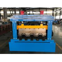 Quality Manual Decoiler Floor Metal Deck Roll Forming Machine 85mm Shaft 30 Stations wholesale