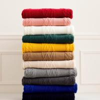 Quality Customized Size Anti Pilling Knitted Shawl Wrap / Cable Knit Throw 7GG Gauge wholesale
