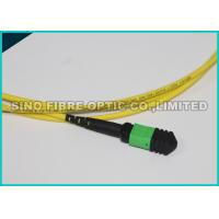 Quality 24 Strands MTP MPO Fiber Breakout Cable , Yellow Fiber Ribbon Cable 1 Meter wholesale