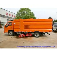Quality FORLAND Vacuum Broom Road Sweeper Truck / Small Mobile Street Sweeper wholesale