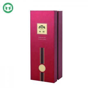 China Double Door Rigid CMYK Offset Wine Cartons Packaging Box on sale